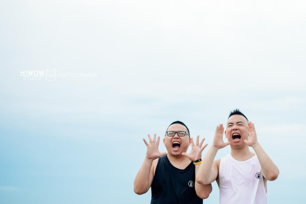 同志婚紗 海蛙攝影 hiwow.studio 情侶寫真 生活風 日常 海邊 淡水9-1